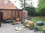 Garden room. Joining coach house to Granary Annex