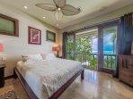 Master bedroom. Peaceful ocean views greet you each morning.