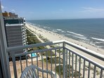 Oceanfront view to north from balcony