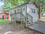 Your ultimate family vacation awaits you at this 2-bedroom, 1-bathroom Baraboo vacation rental cabin with sleeping...