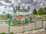 Kids can look forward to the slides and rides offered at the water playground.