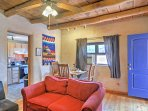 Vibrant colors create and southwest decor adorn the main living space.