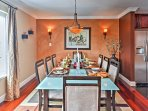 Enjoy a hearty breakfast or a dinnertime feast at this dining table with seating accommodations for 8.