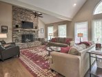 Soaring ceilings throughout an open concept floor plan welcome you into the 2,800-square-foot home.