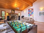 Compete in Foosball matches  with your travel companions.