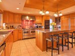 The spacious, fully-equipped gourmet kitchen is every chef's dream!