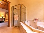 Take a relaxing bubble bath in the jetted tubs of the master bedrooms.