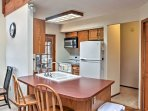Prepare your favorite dinners and desserts in this well-equipped kitchen.