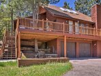 The rustic rental transports you to a mountain state-of-mind.