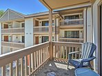 Early risers can enjoy the morning sun off this private balcony, which is accessed through the master bedroom.