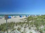 Enjoy sunny beach days, steps from your door!