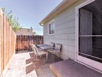 You'll love spending quality time in the protected back patio.