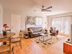 Upon entering this quaint property, you'll instantly be charmed by the beautiful hardwood floors that line the open...