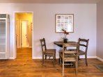 Share meals together at the dining table set for 3.