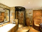 Walnut bathroom. A sumptuous bathroom to start or end your day in indulgent luxury!