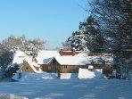 Heath Farm winter wonderland. Unlimited firewood a favourite feature.