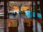 Living room and pool