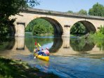 Enjoy canoeing on the river (5 min. from the house)