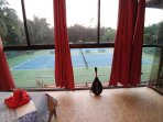 Your studio overlooking the tennis court
