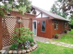 GUEST HOUSE - and Arbor.  Newly enlarged in 2016  1BR/1BA sleeps 2