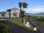 Kilchattan apartment has two bedrooms with double aspect  sea views in kitchen/living/dining