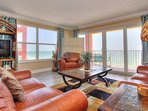 Enjoy stunning sunsets from the living room at Ram Sea 301 in N Redington Bch