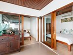 Bedrooms from outside