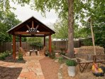 Pergola and outdoor garden area.