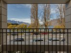 open up the sliding doors to enjoy the fresh mountain air or step out onto the balcony for the views