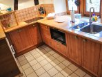 A well-equipped kitchen.