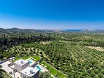 Located among olive groves offering quietness but also close to living areas