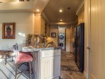 Large Kitchen Stocked With All Dishes & Cookware - Laundry Room With Exit To 2 Car Attached Garage