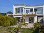 villa de la plage près de Roscoff en Bretagne