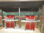 2 BBQs to use - across from game room.