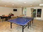 Ping pong table, too, in the game room!