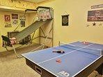 Arcade basketball and mutli game table.