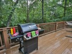 Grill and chill as you spot deer, turkey, and bear