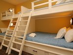 Integrated Bunk Room with 2 Twin over Full Bunkbeds