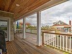 Enjoy pleasant weather on the deck.