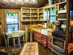 Kitchen fully stocked for your cooking/dining. (Handmade pottery from the owner and other artists.)