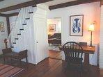 Peek Inside TV Room By Stairs By Front Door