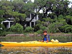 Kayak in our Marsh Creeks. Rentals easily available.