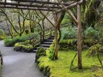 The Butchart gardens within walking distance