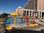 New splash area and gravity pool