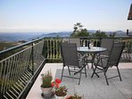 Terrace with Views of Barolo and the Alps