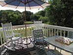 Rear deck leading from dining area