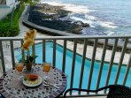 We personally welcome you to your Oceanfront Lanai and Pool, for Sunset Viewing and Dining