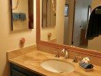 Separate vanity room
