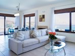 Villa Verna - Living and Dining area with Sea Views