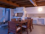 Villa Verna - outside dining and seating area